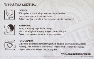 Bilet wstępu do Muzeum Browaru w Żywcu
